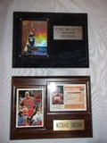 Micheal Jordon 1992-93 Topps All Star and Reggie Miller Hollogram Cards on Plaques