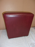 Small Red Leather Ottoman