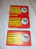 (3) 20 Nroung Boxes of .308Win Rifle Ammunition