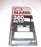 50 Round Box CCI Blazer 380 Auto