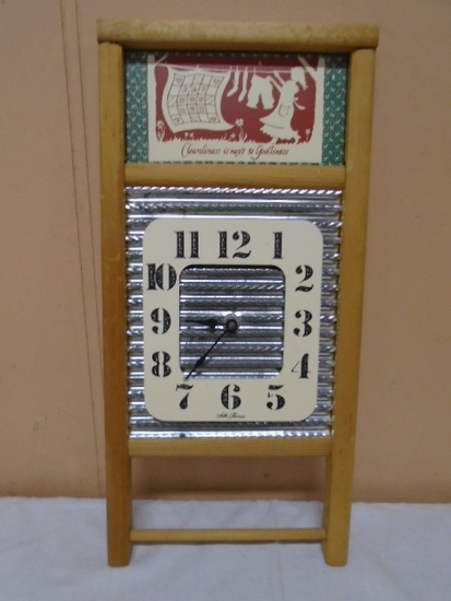 Washboard Clock (Seth Thomas)