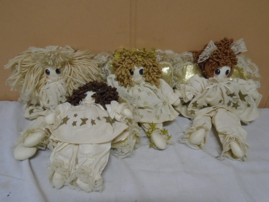 4pc Cloth Angel Doll Group