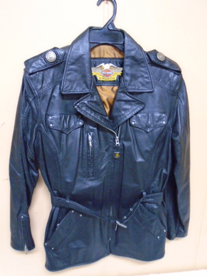Leadies Leather Harley Davidson Jacket