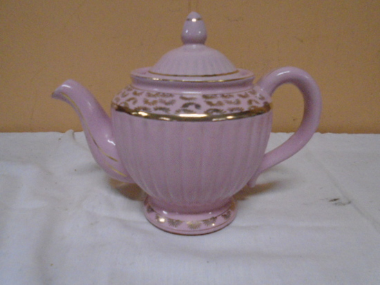 Vintage Pink Gold Trim Tea Pot