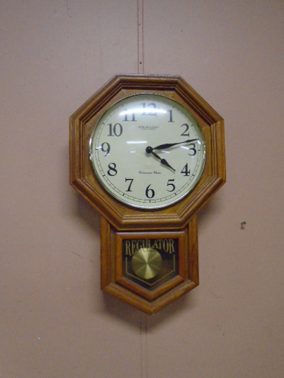 Regulator Wall Clock w/ Westminster Chimes