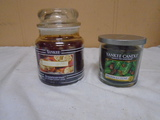 Medium Yankee Jar Candle and Small Yankee Jar Candle
