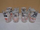 Set of 8 Vintage Drinking Glasses