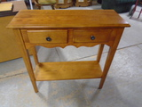 Leick Solid Oak Entry Table w/2 Drawers