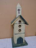 Wooden Church Birdhouse Décor Piece