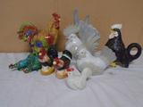 9pc Chicken Figurine Group