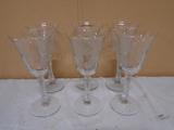 6pc Set of Stemmed Goblets