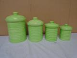 4pc Ceramic Canister Set