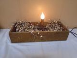 Primative Décor Piece w/ Candle