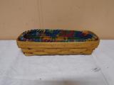 1190 Longaberger Cracker Basket w/ Liner