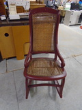 Red Cane Back and Bottom Rocking Chair