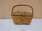 1989 Longaberger Basket w/ Wooden Lid