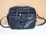 Black Leather Multi-Pocket Purse