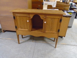 Pine Entry Table w/ Double Doors
