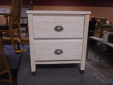 2 Drawer White Washed Night Stand(Like New)