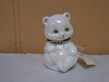 Hand Painted and Signed Fenton Bear