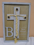 A Cord of 3 Strands Wooden Wall Art