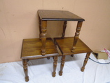 3pc Set of Solid Wood Nesting Tables