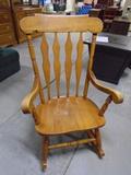 Nice Solid Oak Rocking Chair