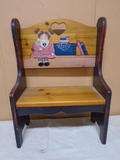 Small Painted Wooden Bench