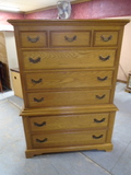 Solid Oak 8 Drawer Chest of Drawers