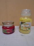 Large Yankee Jar Candle and Small Gold Canyon