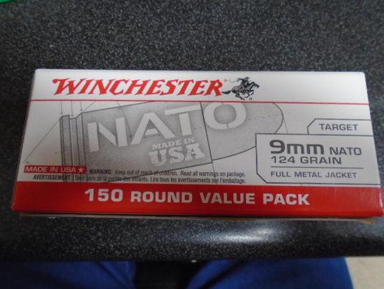 Winchester 150 Round Box of 9mm Nato