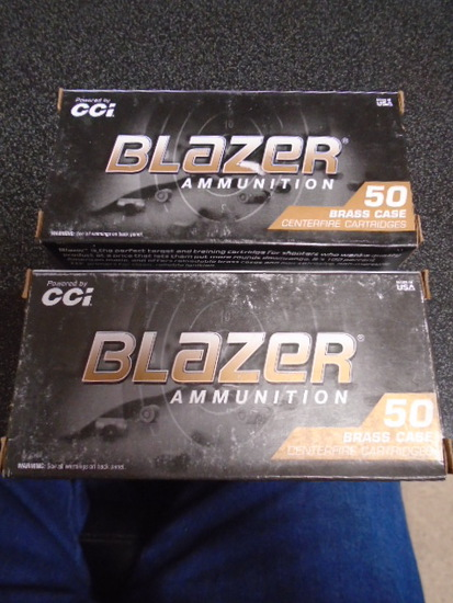 CCI Blazer (2) 50 Round Boxes of 9 MM Luger