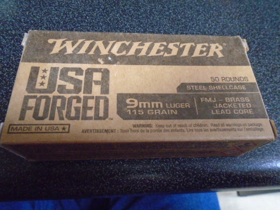 Winchester 50 Round Box of 9MM Luger