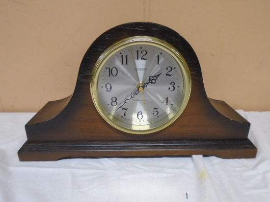 Linden Westminster Chime Woodecase Mantel Clock