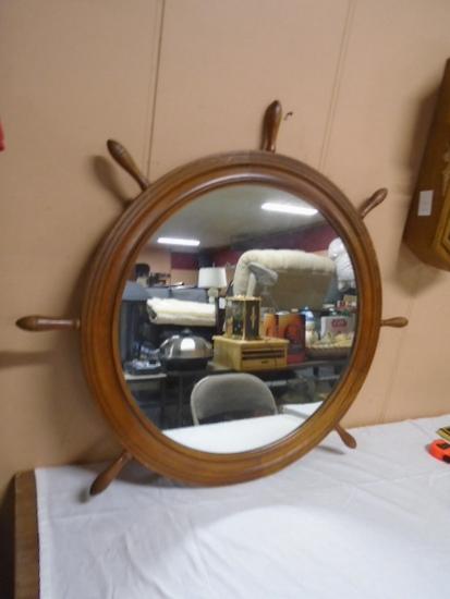 Ships Wheel Mirror