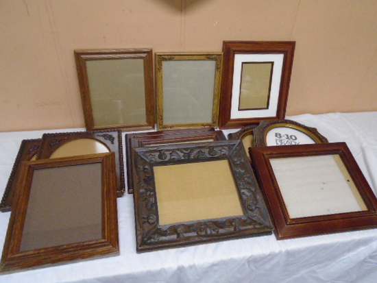 12 Assorted Size Photo Frames