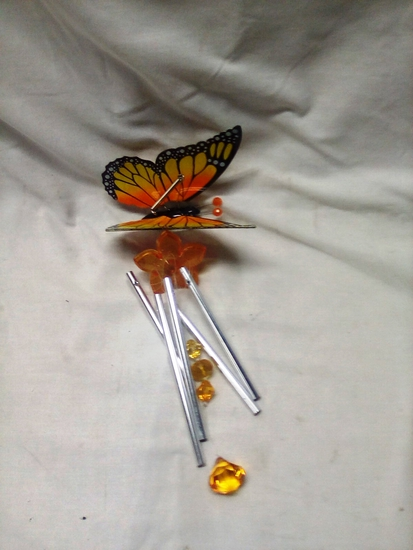 Orange and Yellow Butterfly Wind Chime