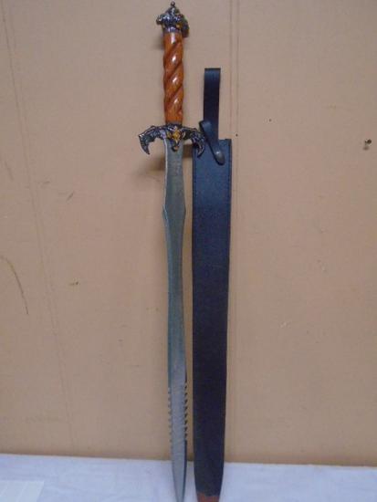 Lionheart Sword w/Leather Sheath