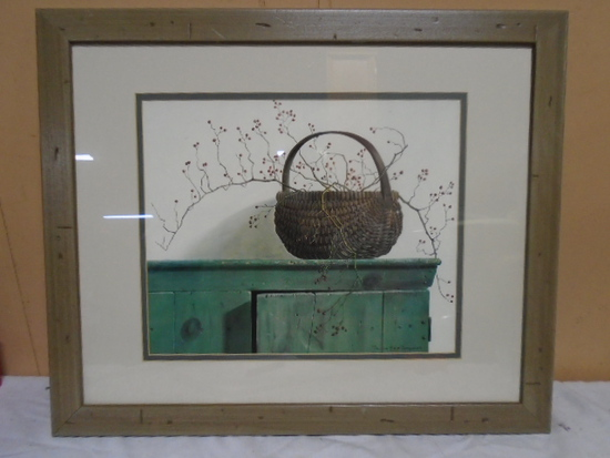 Pauline Eble Campanelli Framed and Matted Print (Basket)