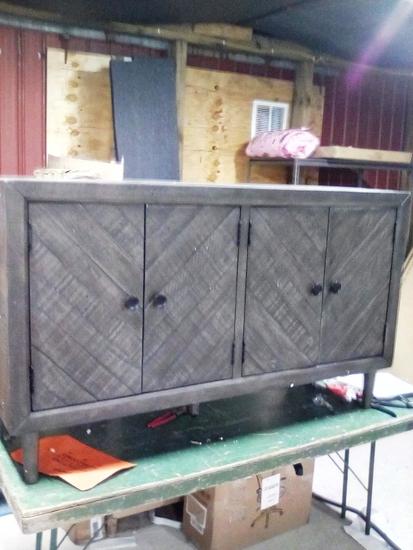 Four Door Reclaimed Wood Design Hutch