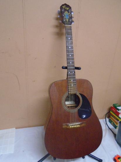 Kat Model K591 Vintage 50s/90s Acustic Guitar w/ Stand