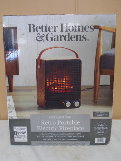 Brand New Retro Portable Electric Fireplace Heater