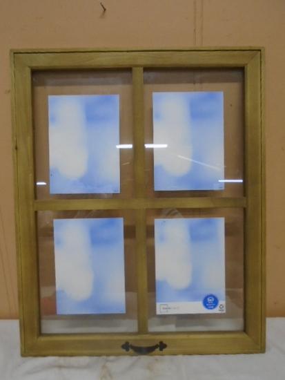 4 Photo Wooden Window Photo Holder