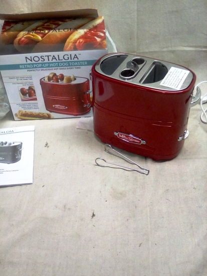 Nostalgia Hot Dog Toaster with Bun Warmer