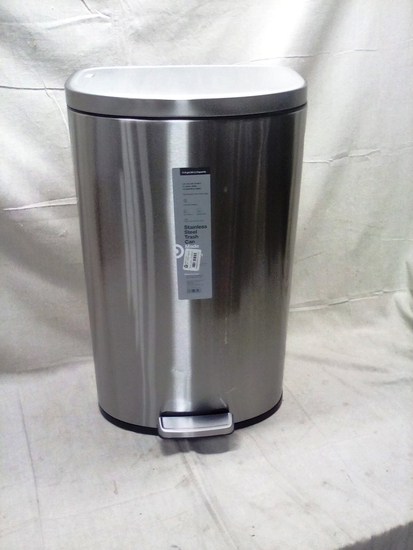 Made by Design Stainless Steel Foot Pedal Trash Can
