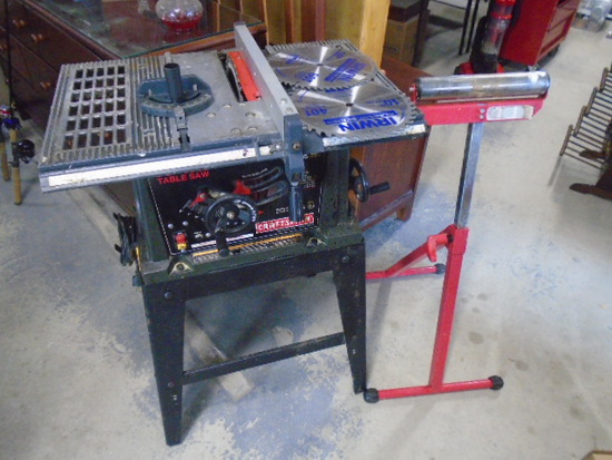 "Craftsman 10"" Table Saw & Roller Stand"