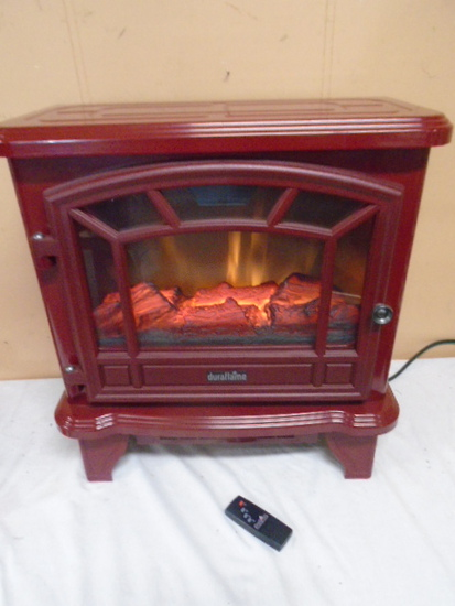 Like New Duraflame Free Standing Fireplace w/ Heat and Remote