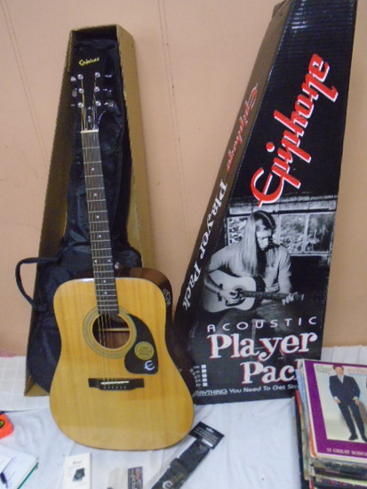 Brand New Ephiphone Model DR 90 AN Acustic Guitar
