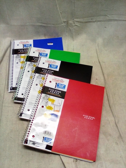 Five Star Single Subject College Ruled Notebooks