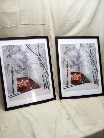 Pair of Train Wall Art Pieces